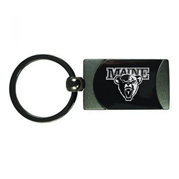 University of Maine-Two-Toned Gun Metal Key Tag-Gunmetal