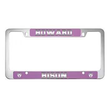 Howard University -Metal License Plate Frame-Pink