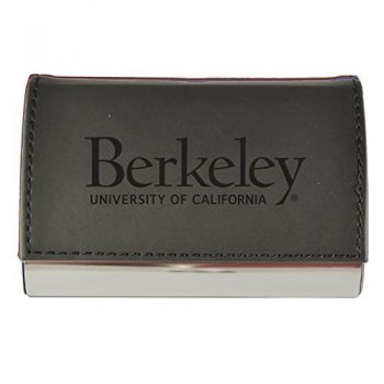 Velour Business Cardholder-University of California Berkeley-Black