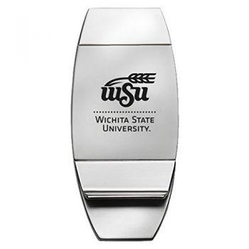 Wichita State University - Two-Toned Money Clip - Silver