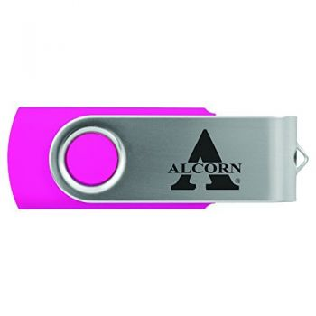 Alcorn State University -8GB 2.0 USB Flash Drive-Pink
