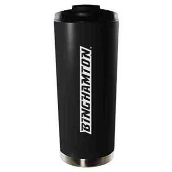 Binghamton University-16oz. Stainless Steel Vacuum Insulated Travel Mug Tumbler-Black