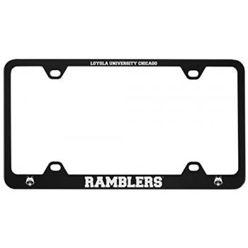 Loyola University Chicago -Metal License Plate Frame-Black