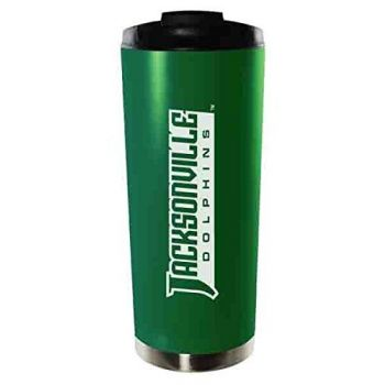 Jacksonville University-16oz. Stainless Steel Vacuum Insulated Travel Mug Tumbler-Green