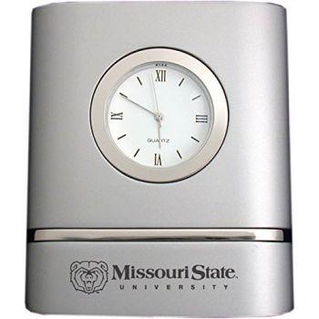 Missouri State University- Two-Toned Desk Clock -Silver