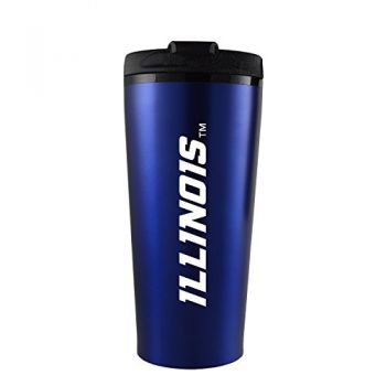 University of Illinois -16 oz. Travel Mug Tumbler-Blue