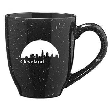 16 oz Ceramic Coffee Mug with Handle - Cleveland City Skyline
