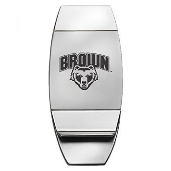 Brown University - Two-Toned Money Clip - Silver