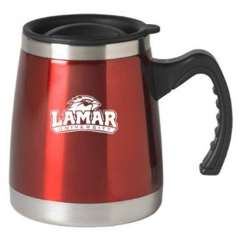 Lamar University - 16-ounce Squat Travel Mug Tumbler - Red