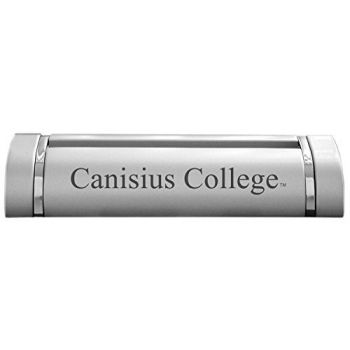 Canisius College-Desk Business Card Holder -Silver