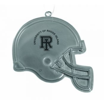 University of Rhode Island - Christmas Holiday Football Helmet Ornament - Silver