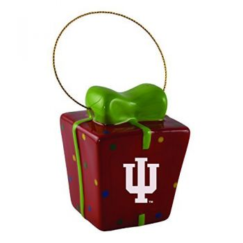 Indiana University-3D Ceramic Gift Box Ornament