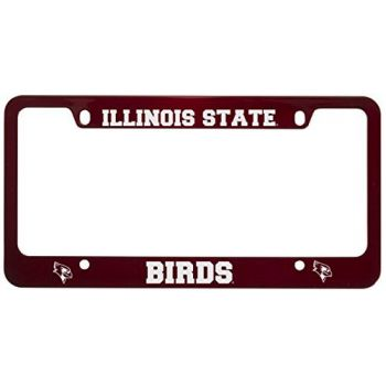 Illinois State University-Metal License Plate Frame-Red