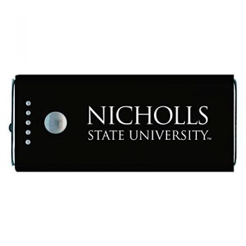 Nicholls State University -Portable Cell Phone 5200 mAh Power Bank Charger -Black