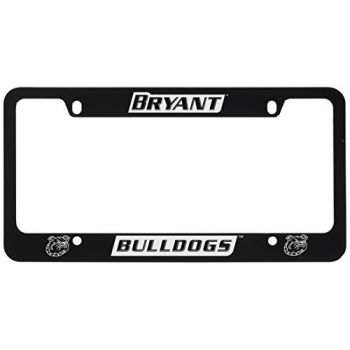 Bryant University -Metal License Plate Frame-Black
