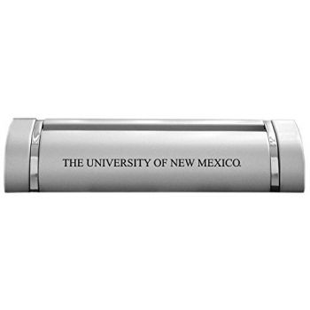 University of New Mexico-Desk Business Card Holder -Silver