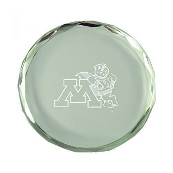 University of Minnesota-Crystal Paper Weight