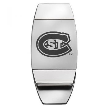 St. Cloud State University - Two-Toned Money Clip - Silver
