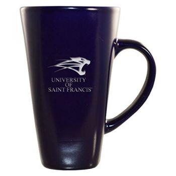 University of Saint Francis-Fort Wayne -16 oz. Tall Ceramic Coffee Mug-Blue