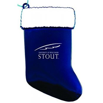 University of Wisconsin–Stout - Chirstmas Holiday Stocking Ornament - Blue