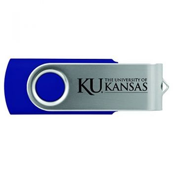 The University of Kansas-8GB 2.0 USB Flash Drive-Blue