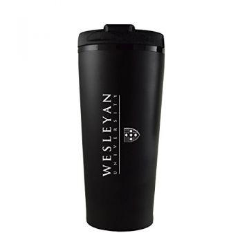 Wesleyan University -16 oz. Travel Mug Tumbler-Black