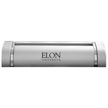 Elon University-Desk Business Card Holder -Silver