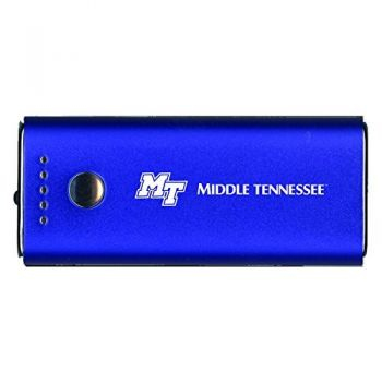 Middle Tennessee State University -Portable Cell Phone 5200 mAh Power Bank Charger -Blue