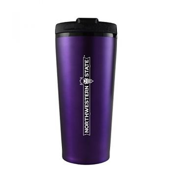 Northwestern State University -16 oz. Travel Mug Tumbler-Purple