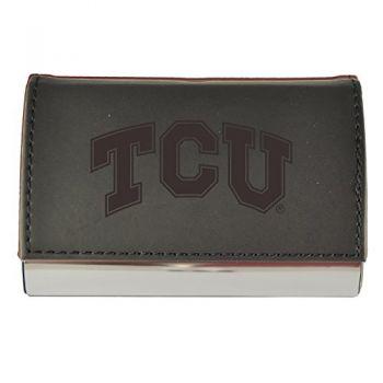 Velour Business Cardholder-Texas Christian University-Black