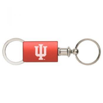 Indiana University - Anodized Aluminum Valet Key Tag - Red