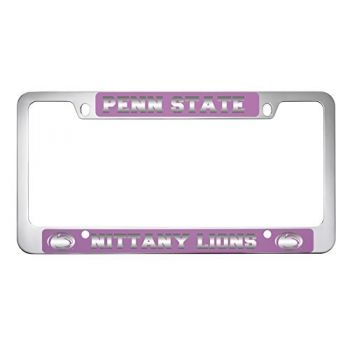 The Pennsylvania State University -Metal License Plate Frame-Pink