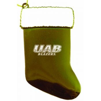 University of Alabama at Birmingham - Chirstmas Holiday Stocking Ornament - Gold