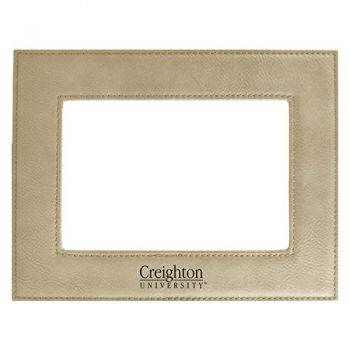 Creighton University-Velour Picture Frame 4x6-Tan