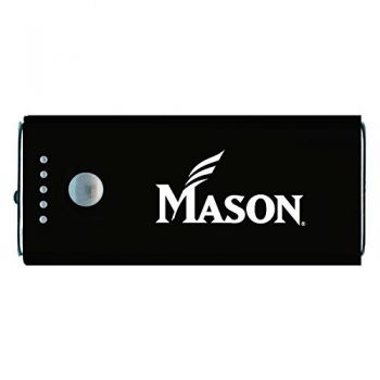 George Mason University -Portable Cell Phone 5200 mAh Power Bank Charger -Black