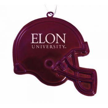 Elon University - Christmas Holiday Football Helmet Ornament - Burgundy