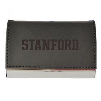 Velour Business Cardholder-Stanford University-Black