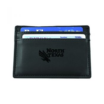 University of North Texas-European Money Clip Wallet-Black