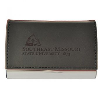 Velour Business Cardholder-Southeast Missouri State University-Black