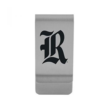 Rice University|Money Clip with Contemporary Metals Finish|Solid Brass|High Tension Clip to Securely Hold Cash, Cards and ID's|Gold