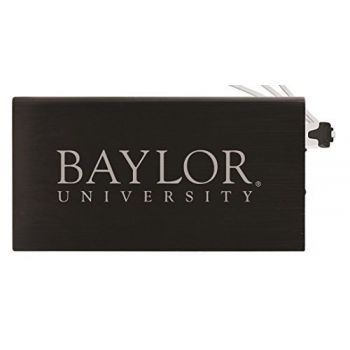 8000 mAh Portable Cell Phone Charger-Baylor University -Black