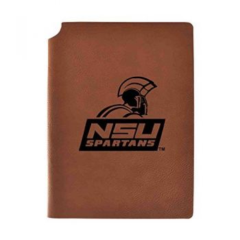 Norfolk State University Velour Journal with Pen Holder|Carbon Etched|Officially Licensed Collegiate Journal|