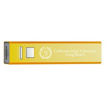 California State University, Long Beach - Portable Cell Phone 2600 mAh Power Bank Charger - Gold