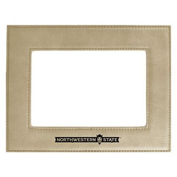 Northwestern State University-Velour Picture Frame 4x6-Tan