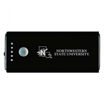 Northwestern State University -Portable Cell Phone 5200 mAh Power Bank Charger -Black