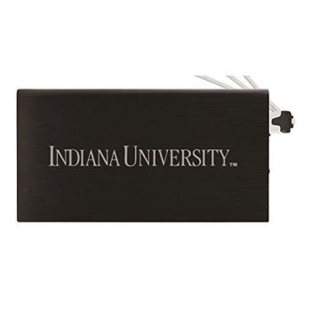 8000 mAh Portable Cell Phone Charger-Indiana University -Black