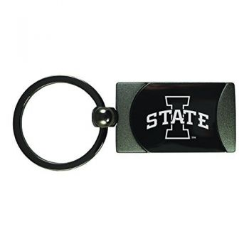 Iowa State University -Two-Toned Gun Metal Key Tag-Gunmetal