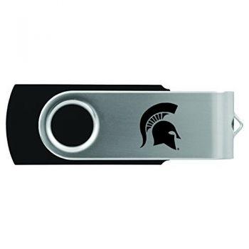 Michigan State University-8GB 2.0 USB Flash Drive-Black
