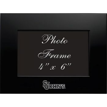 St. John's University - 4x6 Brushed Metal Picture Frame - Black