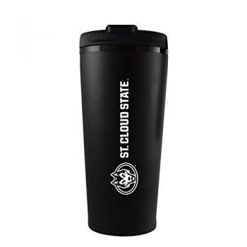St. Cloud State University -16 oz. Travel Mug Tumbler-Black